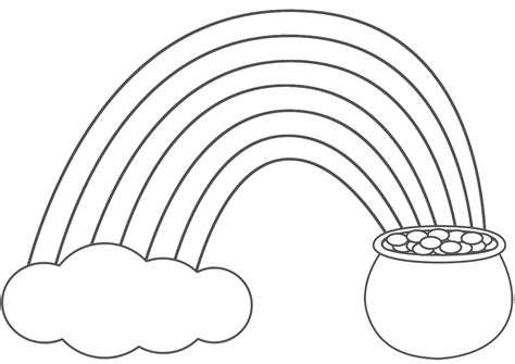 Pictures Of Rainbows To Color by Rainbow Coloring Pages For Printable Only Coloring