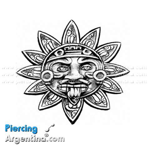 imagenes de flores aztecas tatuaje sol azteca