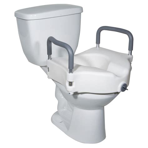 elevated toilet seat drive two in one locking elevated toilet seat raised