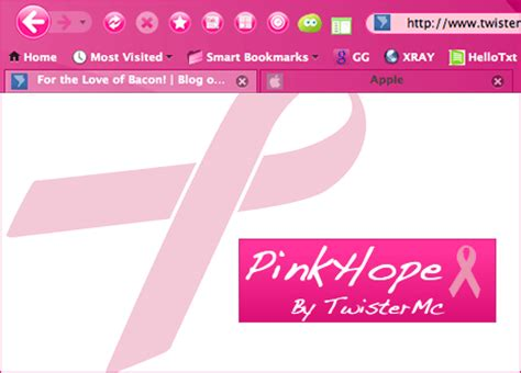 firefox themes pink pinkhope breast cancer awareness firefox theme