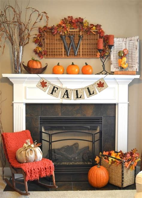 fall decorating ideas 87 exciting fall mantel d 233 cor ideas shelterness