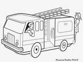 mewarnai mobil pemadam kebakaran mewarnai gambar mobil