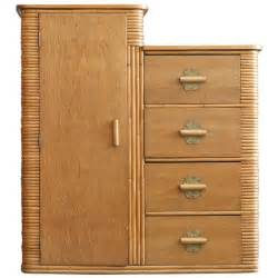 Wicker Armoire Wardrobe Museum Quality Stacked Rattan Armoire Circa 1930 At