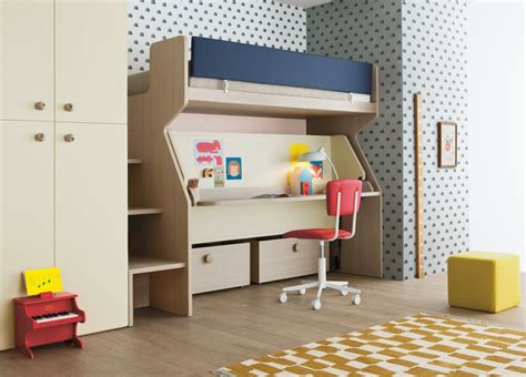 Bunk Beds With Two Desks Battistella Tippy Bunk Bed And Desk Contemporary Bunk Beds From Italy