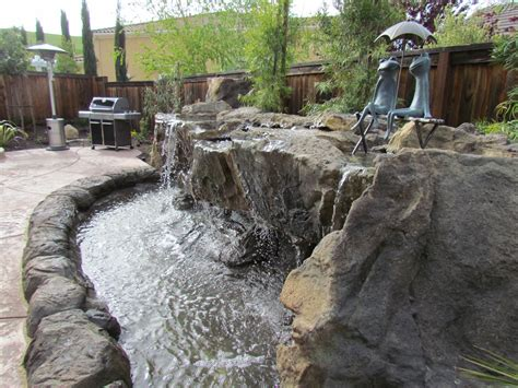 yard features waterfall backyard resort style backyard water