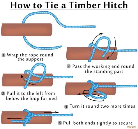 How To Tie A Knot With 3 Strings - timber hitch 101 knots