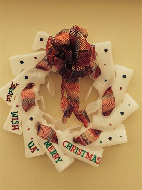 chrisymas nurse craft wreath made from urinals wreaths decorations
