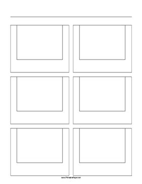 printable paper net storyboard printable storyboard with 2x3 grid of 4 3 full screen