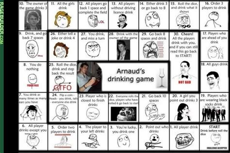 Drinking Game Memes - haha moment arnaud s drinking game meme