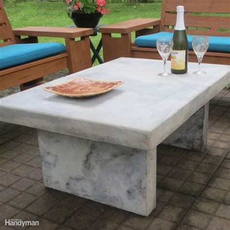25 best ideas about concrete outdoor table on