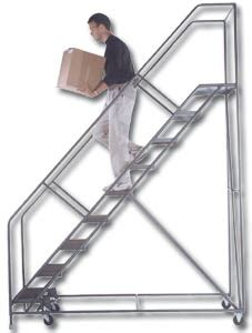 400 Lb Capacity Ladder by Rolling Ladders Rolling Ladder A Plus Warehouse