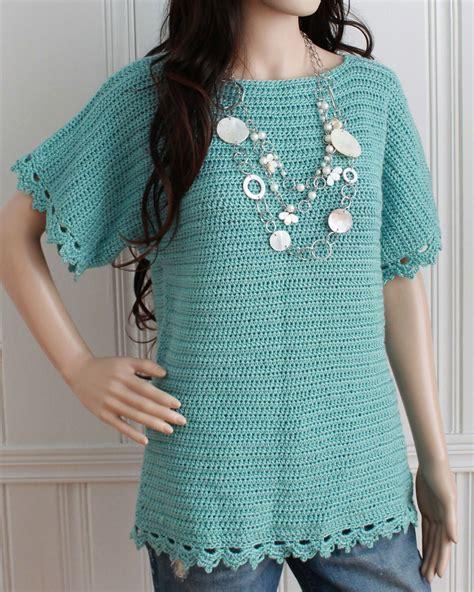 pattern crochet tunic easy boat neck tunic crochet pattern pdf