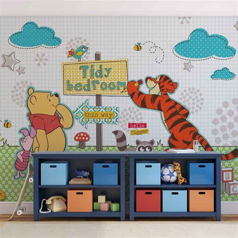 Wall Sticker Wall Stiker Wallsticker Dinding 152 Pooh Family disney winnie pooh wall paper mural buy at europosters