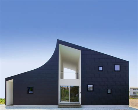 tokyo blue roofing curved roof defines kht house by international royal