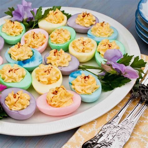 colored deviled eggs for easter for the of food colored deviled eggs