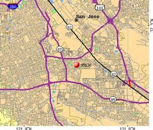 San Jose Zip Code Map by 95136 Zip Code San Jose California Profile Homes