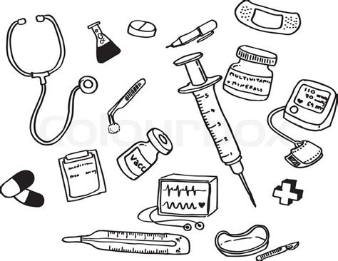 Coloring Page Doctor Tools | doctor tools coloring pages community helpers