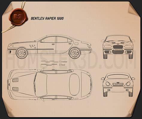 bentley rapier bentley rapier 1996 blueprint humster3d