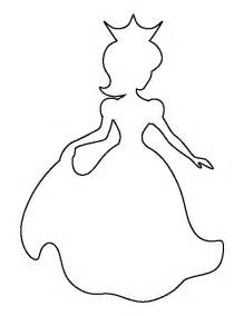 Princess Template by Princess Pattern Use The Printable Outline For Crafts