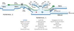 United International Baggage by Frankfurt International Fra Airport Map United Airlines