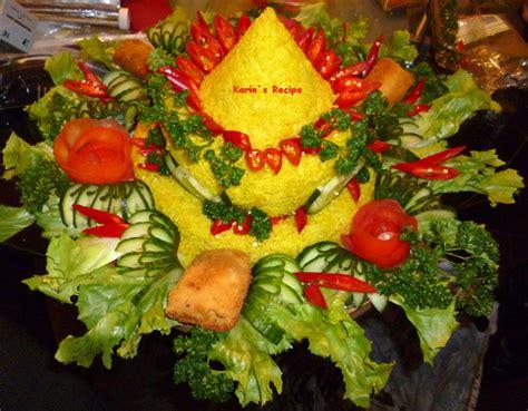 karins recipe nasi kuning tumpeng kuning indonesian