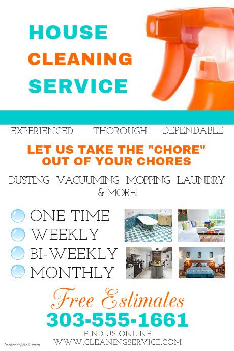 House Cleaning Service Template Postermywall Cleaning Service Flyer Template
