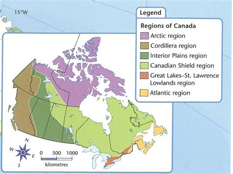 regional map of canada canada s 6 geographic regions student spark ca