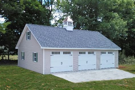 Detached 3 Car Garage Plans by Detached Attic Three Car Garage Prices Free Plans