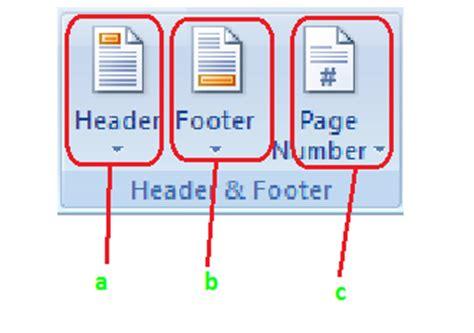 fungsi tab design pada header dan footer tools fungsi fungsi icon tab insert pada microsoft word 2007