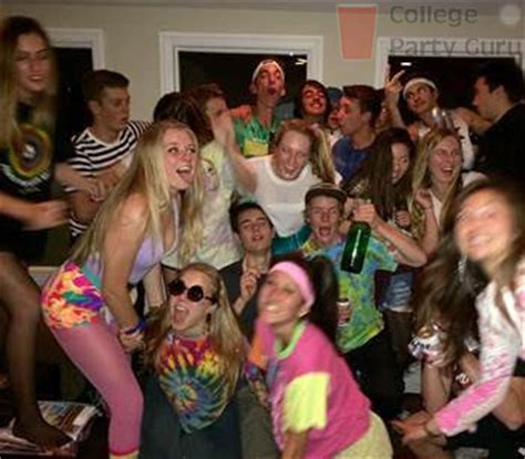themes of college parties decades college party guru