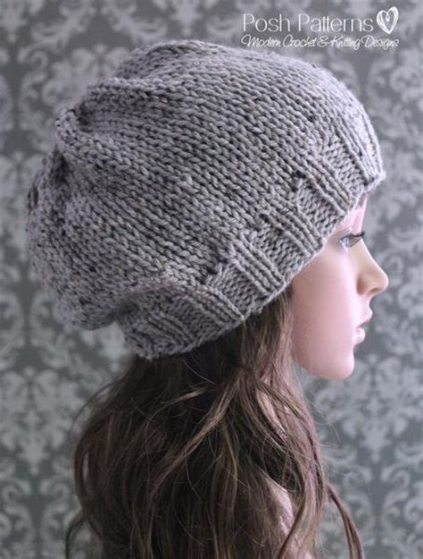 slouchy hat knitting pattern for beginners knitting pattern easy knit slouchy hat pattern