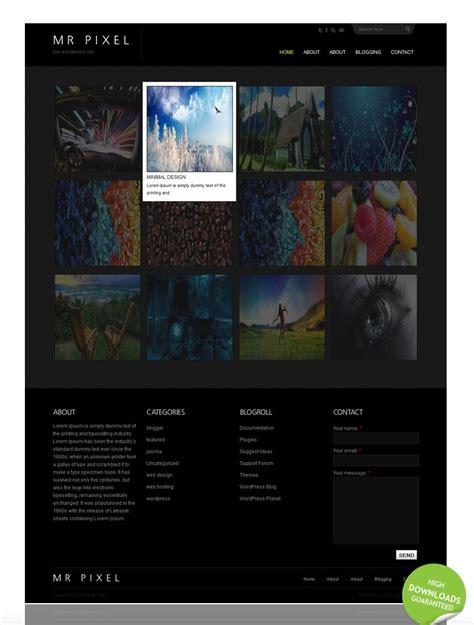black themes wordpress free portfolio wordpress theme black and dark grey free