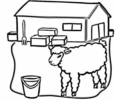 barn color page az coloring pages