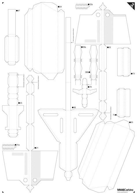 printable paper gun templates gestalten m4a8