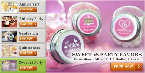 Sweet 16 Party Giveaways - party favors cheap discount party favor ideas supplies