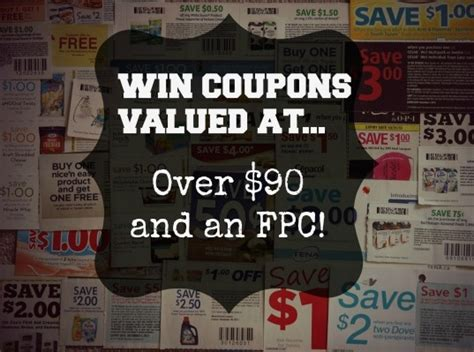 Coupon Giveaway - win 90 in coupons and an fpc can 5 16 canwin
