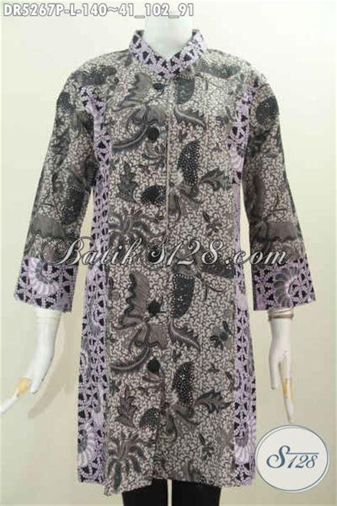 Terusan Daleman Pendek Kode 5906 baju batik dress keren desain kerah paspol shanghai