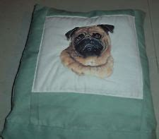 pug foaming at pug throw ebay