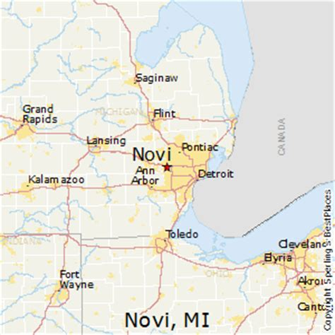 novi michigan map michigan map