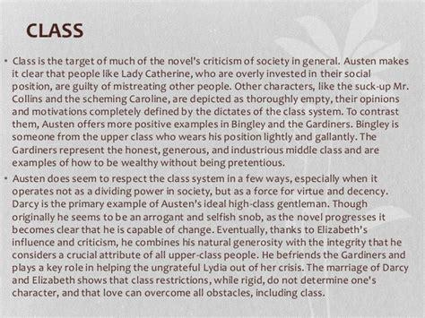 pride and prejudice themes class themes pride and prejudice