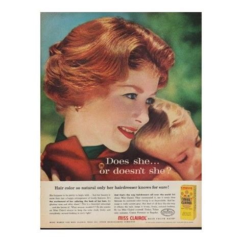 vintage clairol ads on pinterest clairol hair color 1960 miss clairol hair color quot so natural quot advertisement