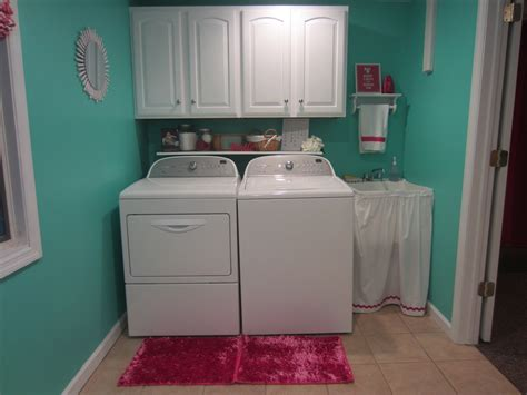 Area Rugs Turquoise Turquoise And Fuschia Laundry Room Reveal The Sensible Home
