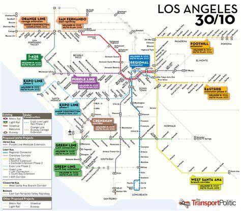 california map extensions will los angeles revolutionize u s transit funding