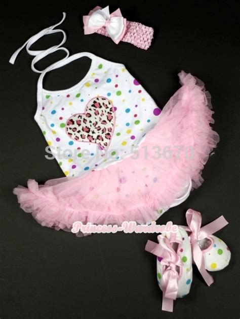 Jumpsuit Baby Pink Leopard baby white rainbow dot pink leopard halter jumpsuit pink dress shoes nb 2y