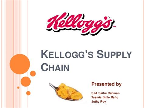 Kellogg Marketing Mba by Kellogg S Supply Chain