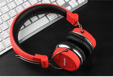 Awei Earphone Headset Bluetooth Sport Wireless With Microphone Murah awei a700bl bluetooth headphones with mic black