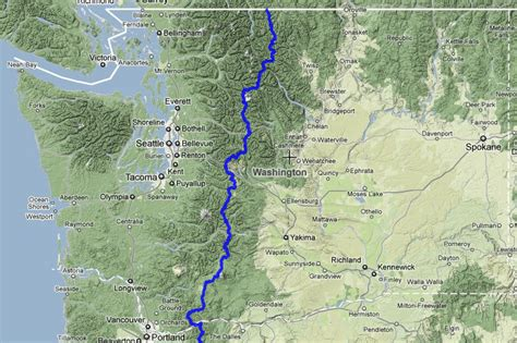 pacific crest trail washington sections pacific crest trail washington map