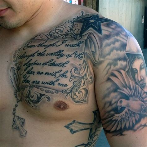 chest arm tattoos for men 50 bible verse tattoos for scripture design ideas