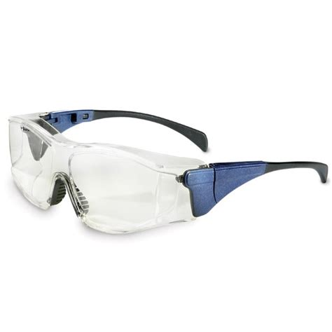 Uvex Safety Glasses The Glass 9161 Clear Lens 9161014 uvex ambient safety glasses blue temples clear lens fullsource