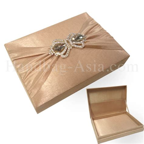 silk wedding invitations thailand cappuccino color thai silk wedding invitation box with crown pair brooches handbag asia